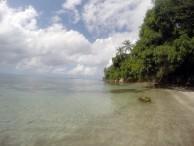 Small secret beach near fort Warwick