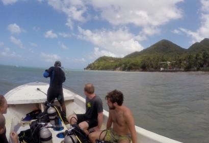 On the Sonny Dive shop boat