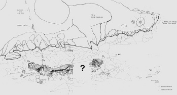 Map of the wreck of the Príncipe de Asturias. Source http://www.naufragiosdobrasil.com.br